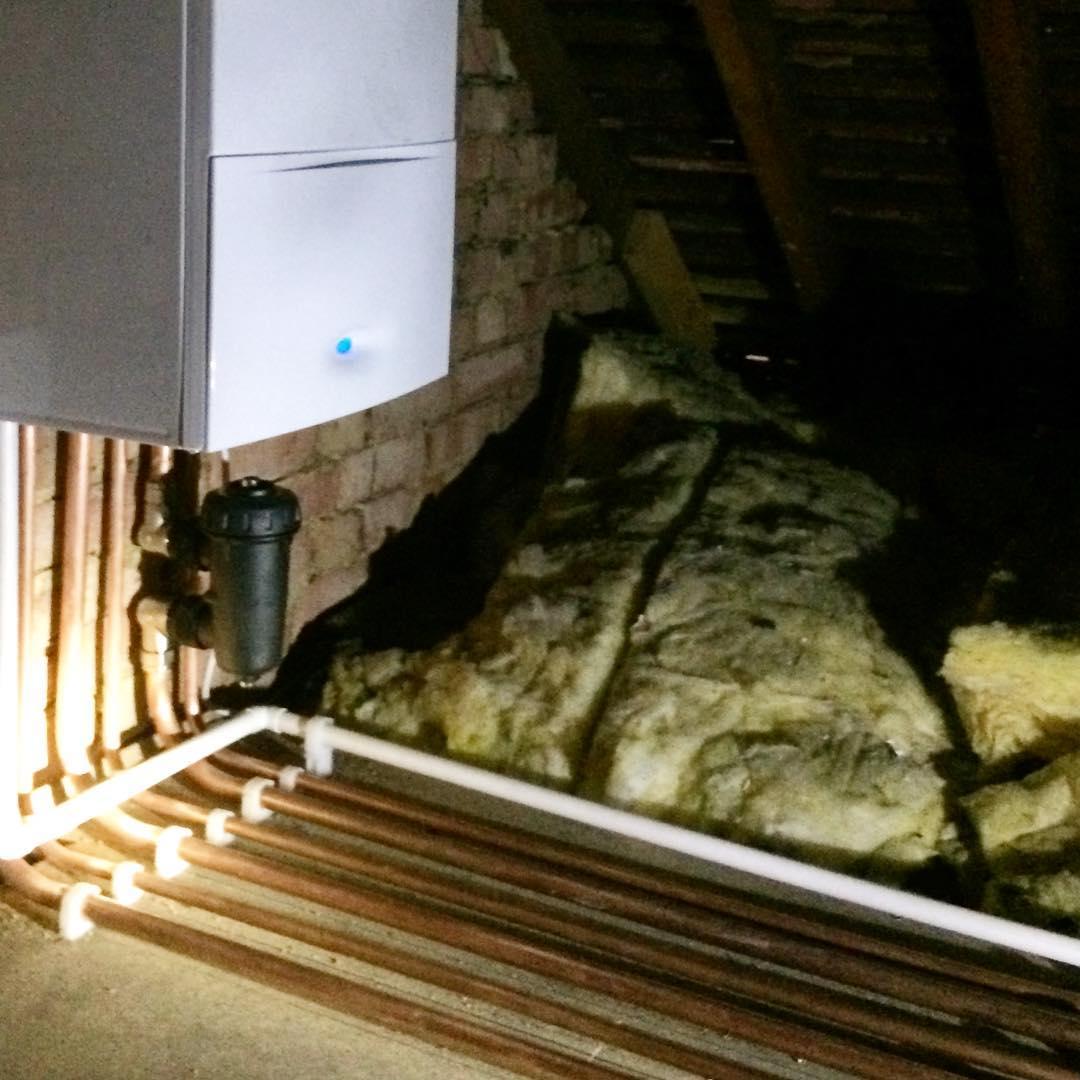 Detail from ongoing loft CentralHeating installation in Beckenham BR3 Bromleyhellip