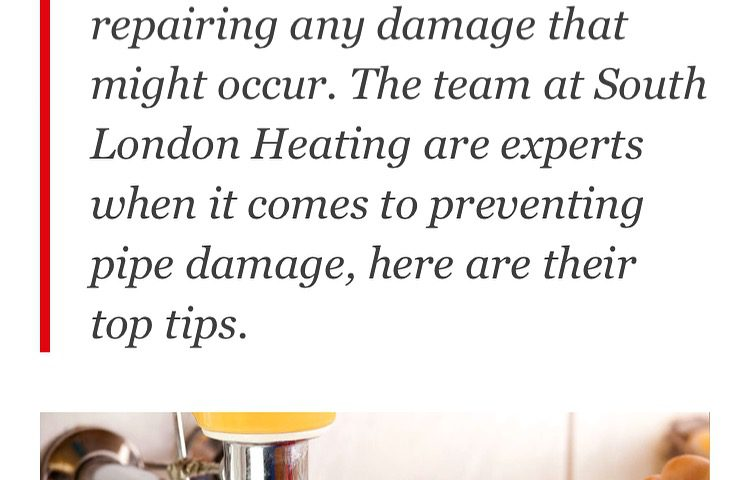 South London Heating: How to avoid Burst PIpes